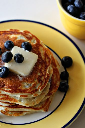 Greek Yogurt and Blueberry Pancakes