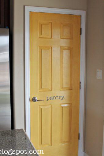 Yellow Pantry Door Makeover