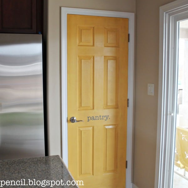 Yellow Pantry Door Makeover
