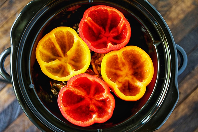 Bell Peppers in a Slow Cooker