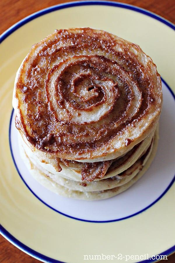 Sour Cream Cinnamon Roll Pancakes