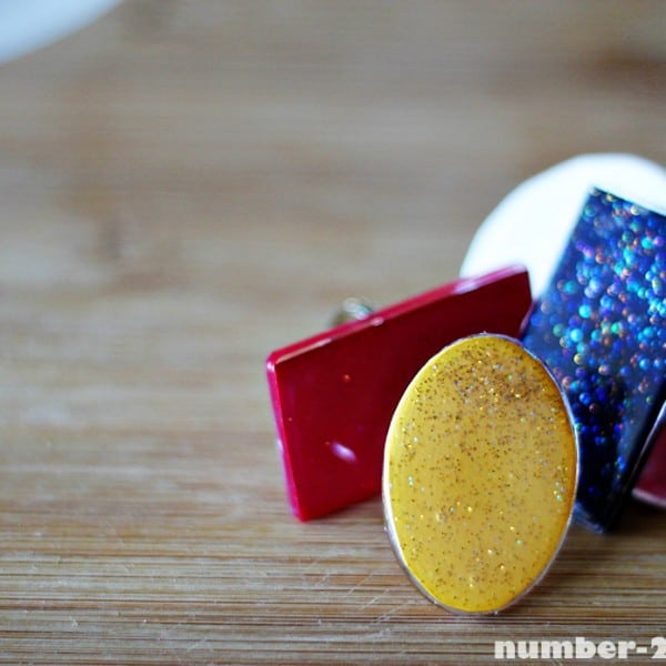 DIY Mod Podge Statement Rings