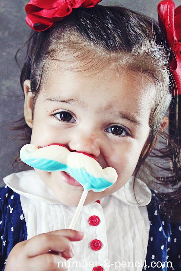 Uncle Sam Mustache Pops