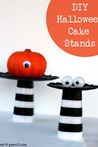 DIY Halloween Cake Stands