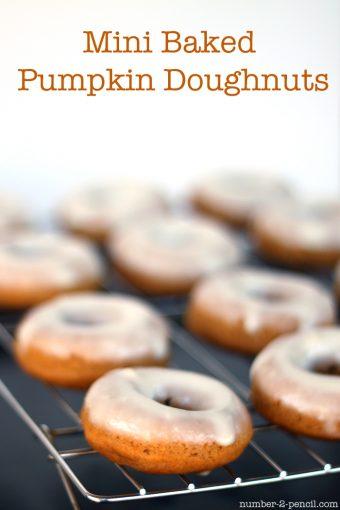 Mini Baked Pumpkin Doughnuts