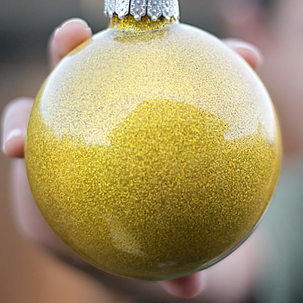 DIY Glitter Ornaments for Kids