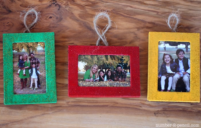 Christmas Ornaments from Dollar Store Picture Frames - No. 2 Pencil