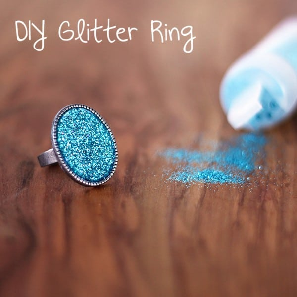 DIY Glitter Ring with Mod Podge Dimensional Magic
