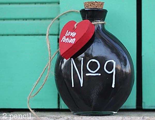 Love Potion No 9 Bottle – Easy Valentine's Day Craft