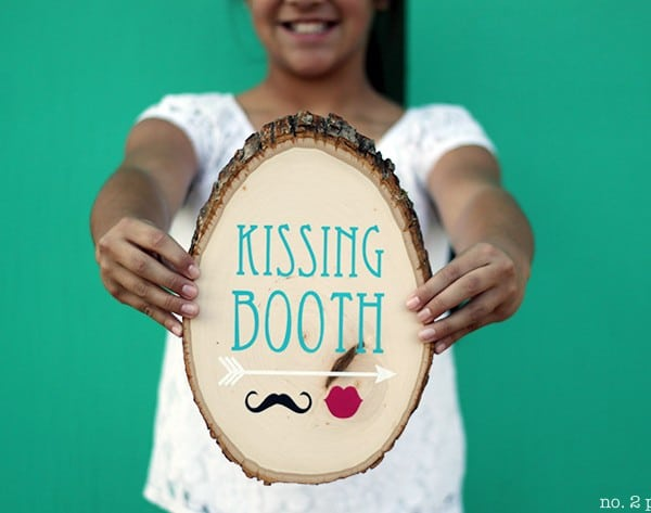 Rustic Kissing Booth Sign