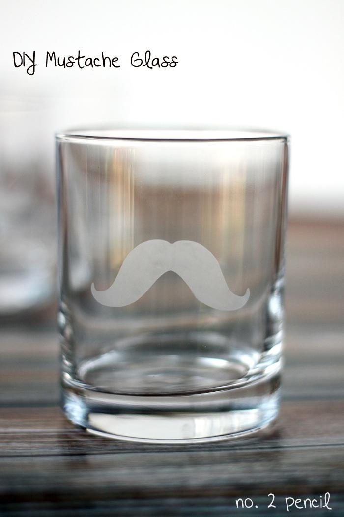 Diy Mustache Glass With Martha Stewart Glass Etching Cream
