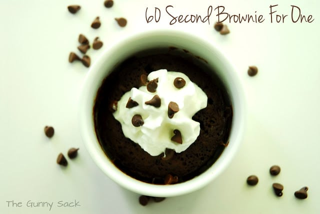 Mug 60 second brownie
