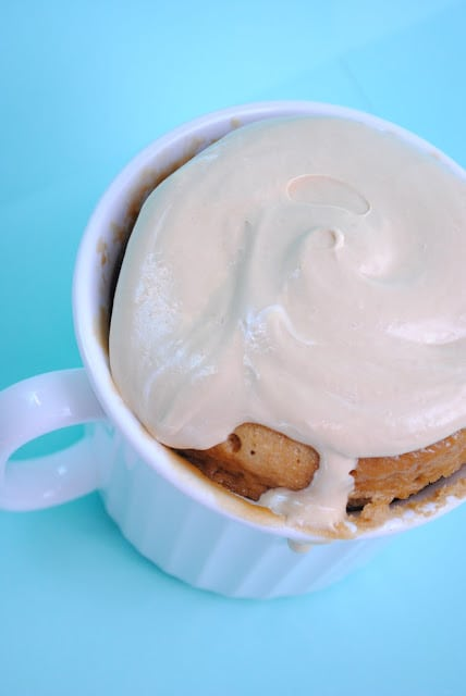 Mug Biscoff Minute Cake