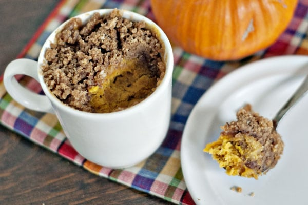 Mug Pumpkin Coffee Cake