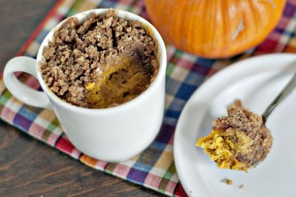 Mug Pumpkin Coffee Cake