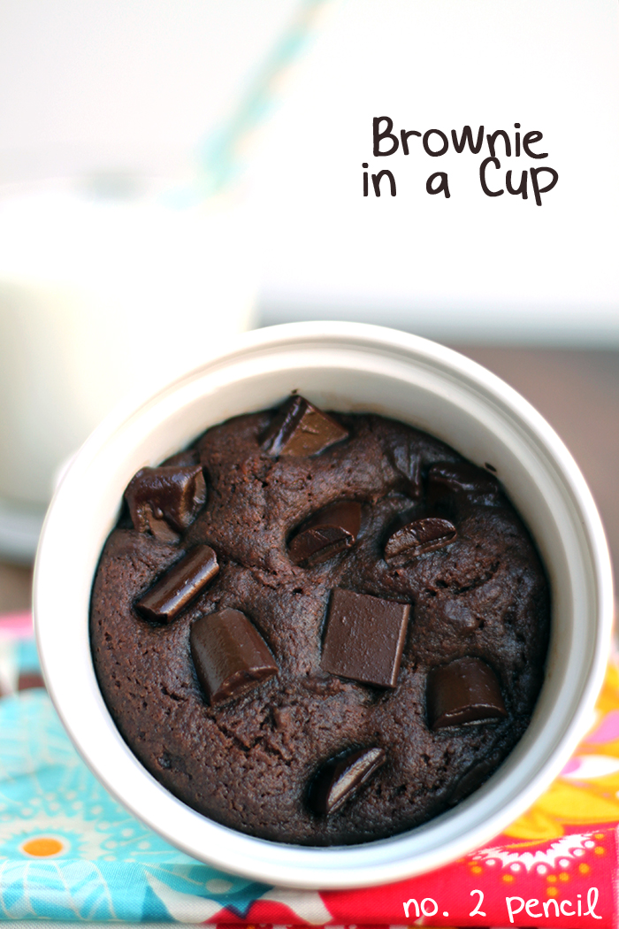 Brownie in a Mug - a homemade microwave brownie in a mug