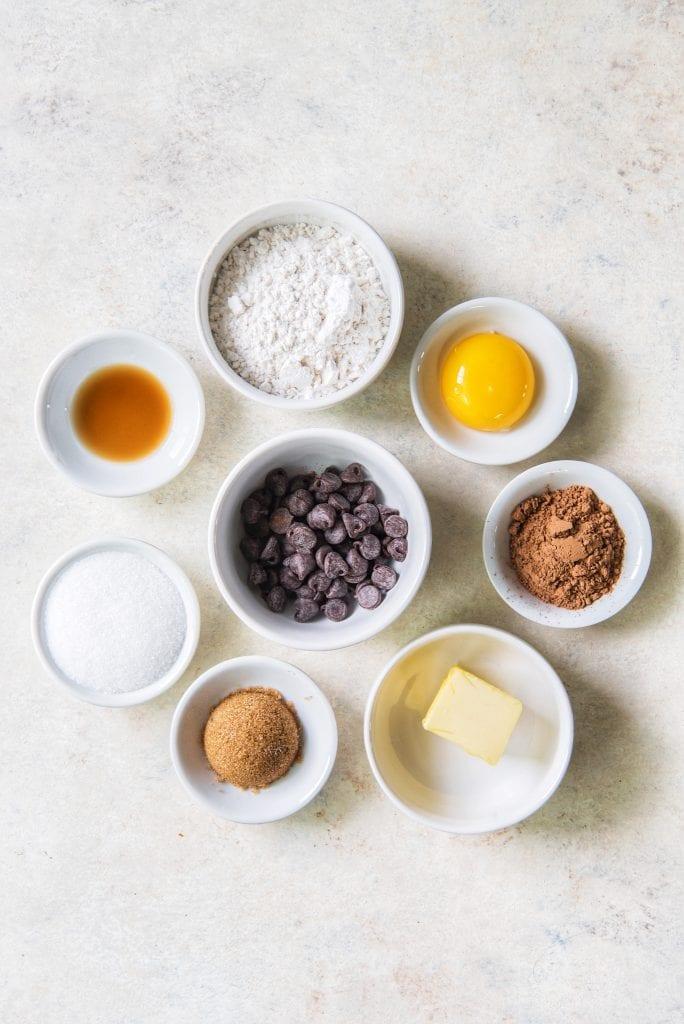 Microwave Brownie Ingredients