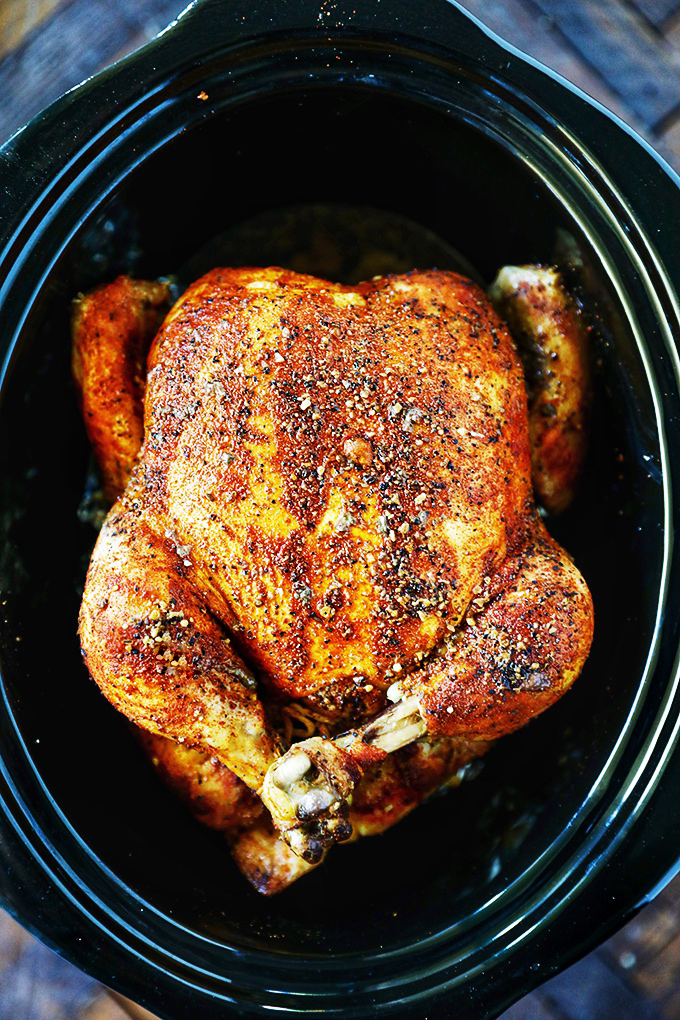 CrockPot Whole Chicken Rotisserie Style Chicken