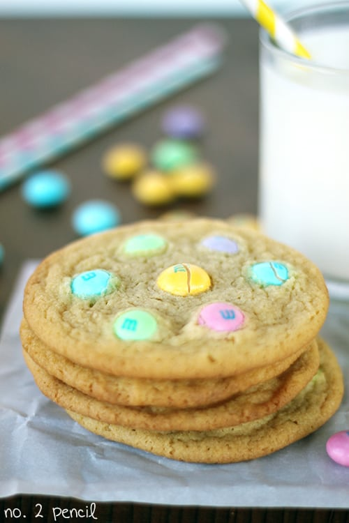 White Chocolate M and M Cookies