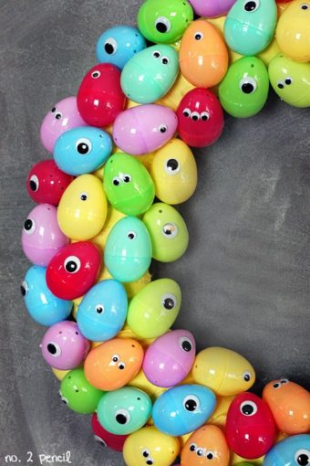 Googly Eyes Easter Egg Wreath