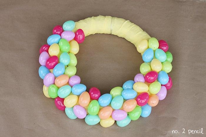 Googly Eyes Easter Egg Wreath