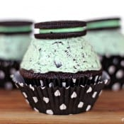 Cool Mint Oreo Stuffed Cupcakes