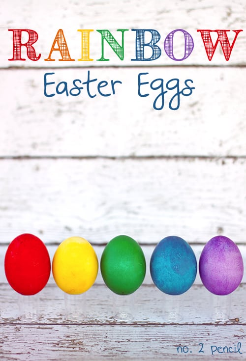 Rainbow Easter Eggs -Super bright Easter eggs the easy way.