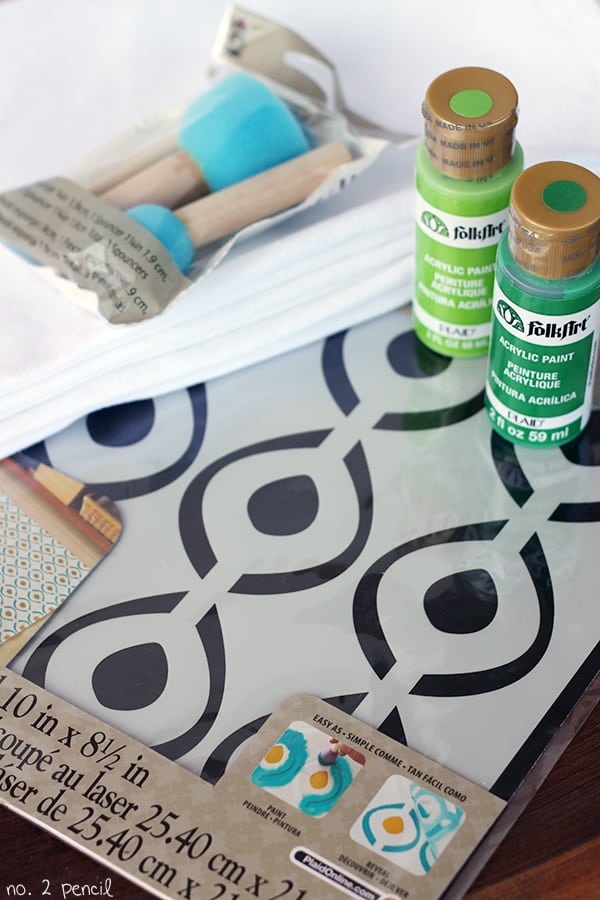 Stenciled Tea Towels
