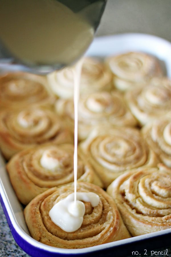Orange Sweet Rolls, made from yellow cake mix!