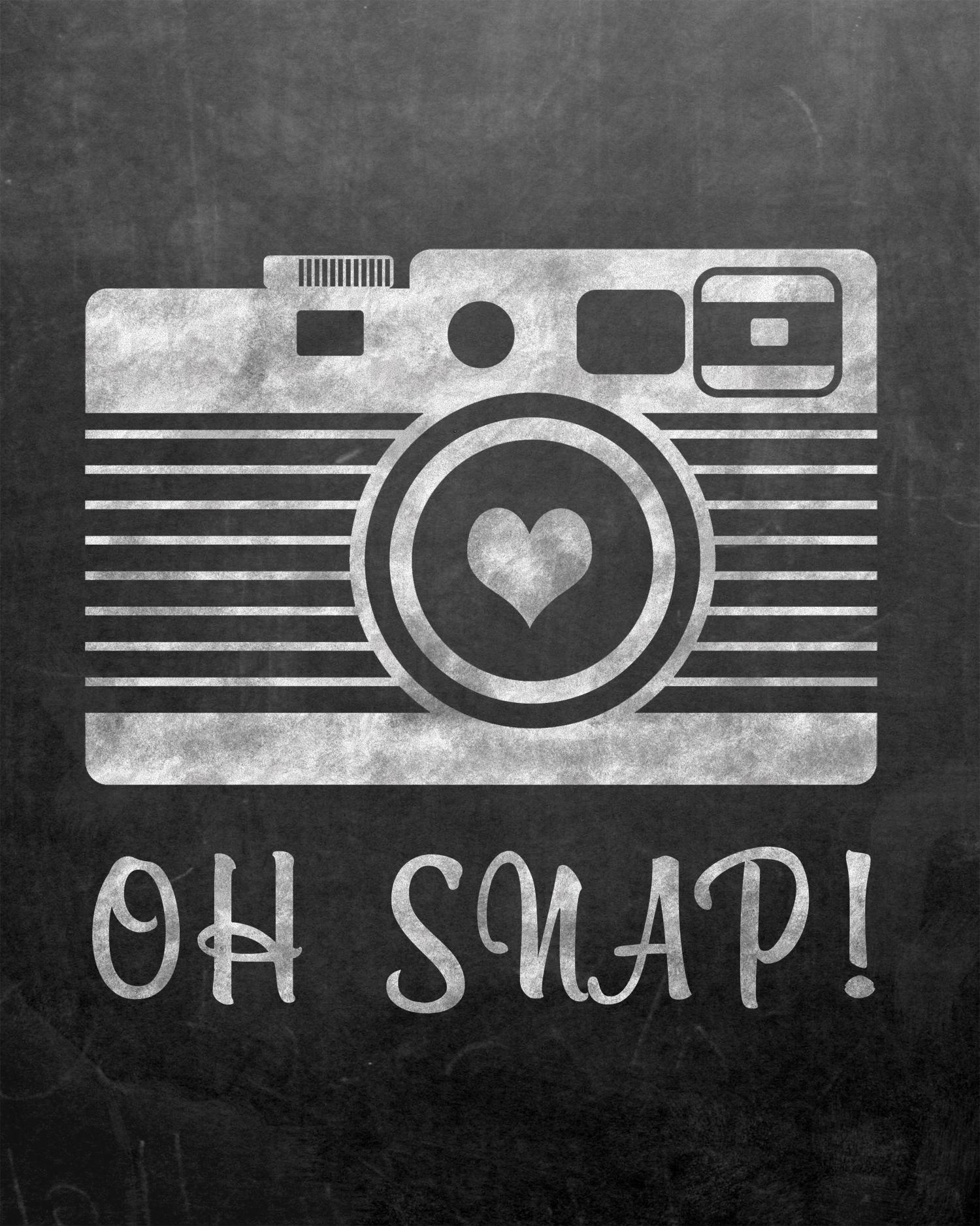photo regarding Free Chalkboard Printable identified as Cost-free Oh Snap Chalkboard Printable - No. 2 Pencil