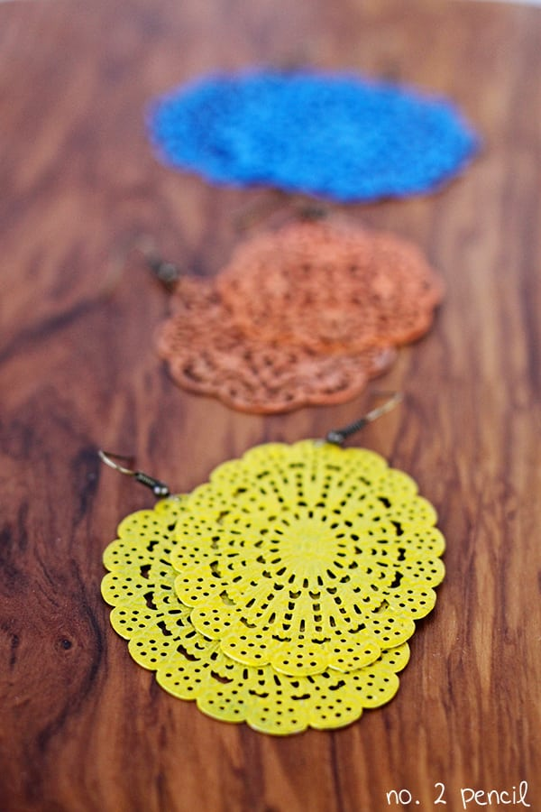DIY Painted Earrings
