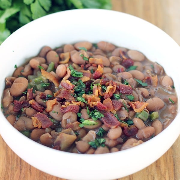 Mexican-Style Beans with Bacon and Jalapeno