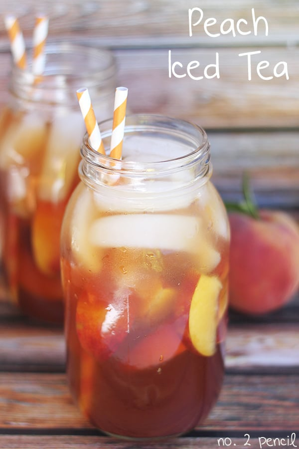 Easy Homemade Peach Iced Tea Recipe | Iced Tea Recipes That Will Rock Your Summer | summer iced tea recipes