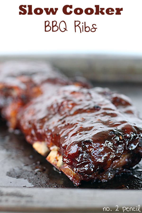 Slow Cooker BBQ Ribs - No. 2 Pencil