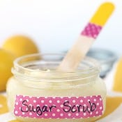 Coconut Oil Lemon Sugar Scrub