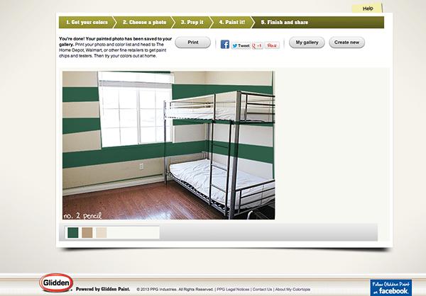 Glidden Paint Green Stripes