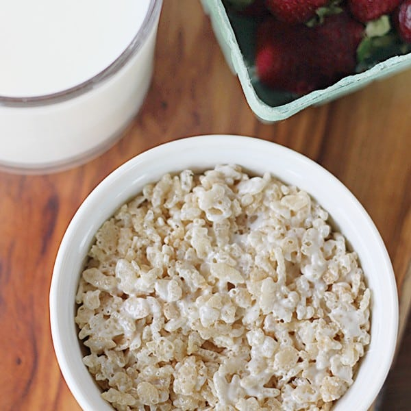 Microwave Rice Krispies Treats for One