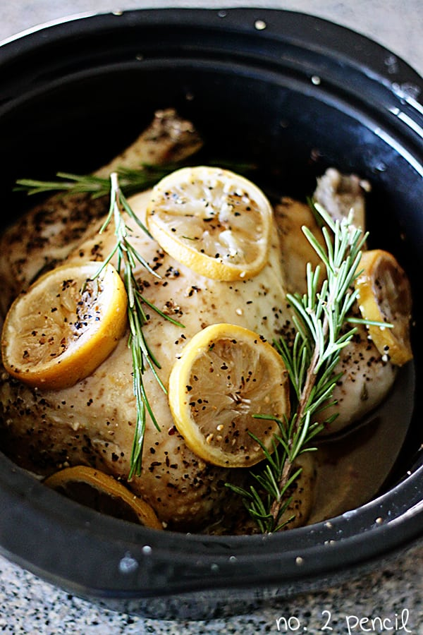 Slow Cooker Lemon Garlic Chicken | Outrageously Delicious Whole Chicken Recipes | whole chicken recipes oven