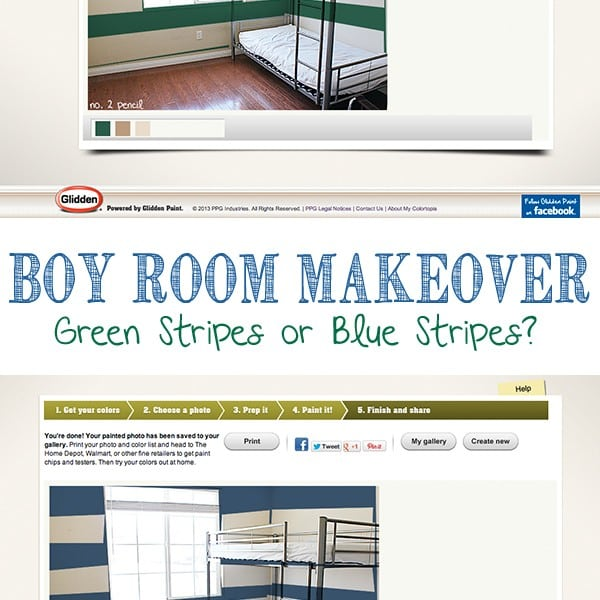 Boy Room Makeover with Glidden Paint and My Colortopia