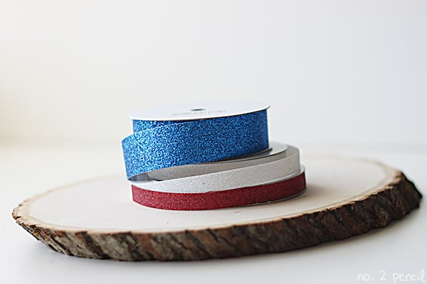 Glitter Tape Flag - an easy 4th of July craft!