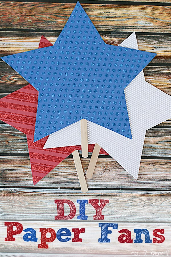 DIY Patriotic Paper Fans - with free printable template!