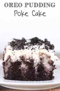 Oreo Pudding Poke Cake