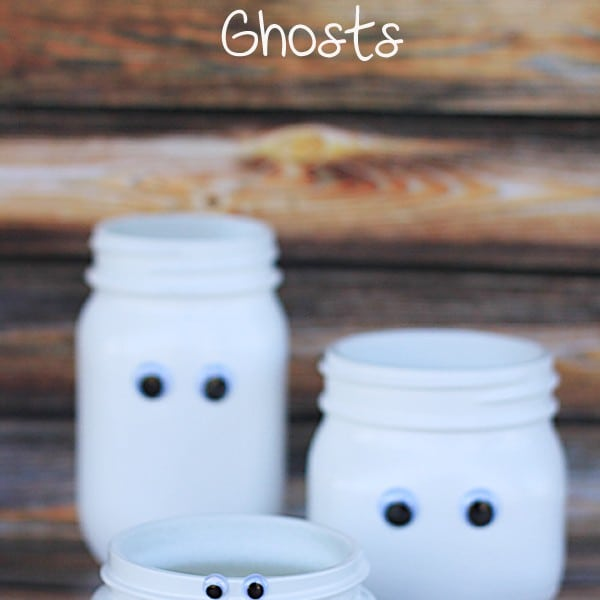 Halloween Mason Jar Craft – Mason Jar Ghosts