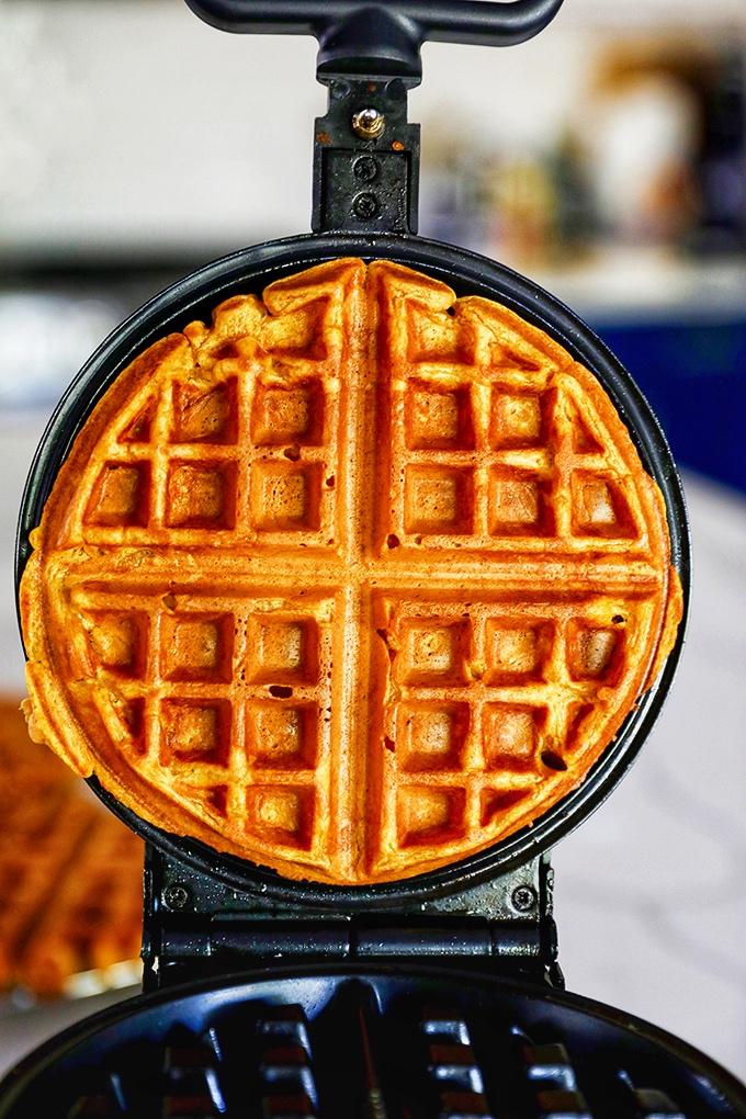 Pumpkin Waffle in a Waffle Maker