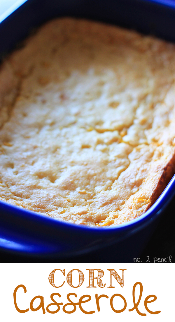 Corn Casserole - the easiest and tastiest side dish. Perfect for Thanksgiving and Christmas!