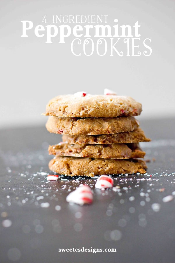 4 Ingredient Peppermint Cookies