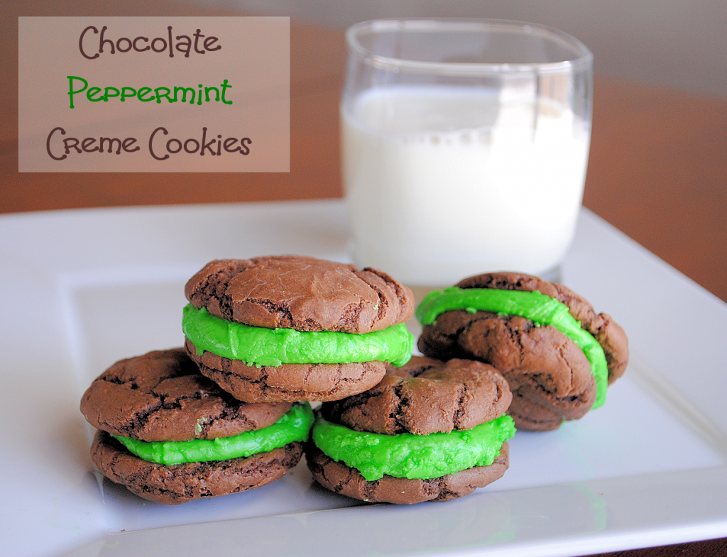 Chocolate Peppermint Creme Cookies
