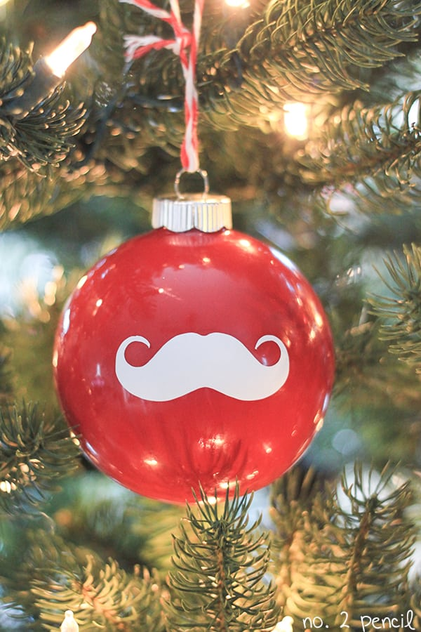 Santa Mustache Christmas Ornament