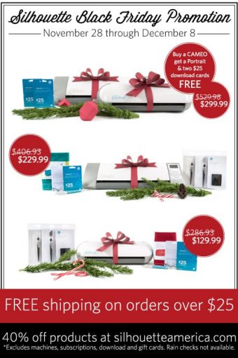 Santa Mustache Ornament and Amazing Silhouette Black Friday Promotions