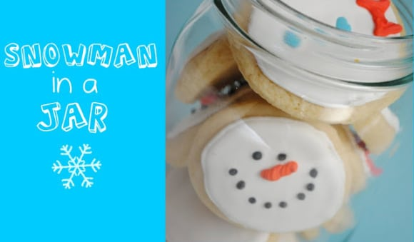 Snowman in a Jar Cookies
